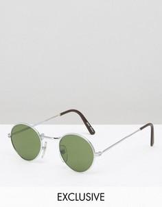 Круглые солнцезащитные очки в стиле ретро Reclaimed Vintage - Серебряный