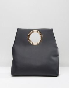 Клатч с кольцом New Look - Черный