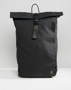 Черный парусиновый рюкзак ролл-топ Farah - Черный