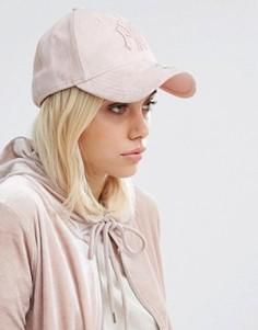 Розовая замшевая кепка New Era Suede 9 Forty - Розовый