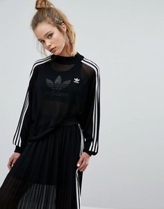 Трикотажный джемпер с рукавами летучая мышь adidas Originals Adicolor Deluxe - Черный