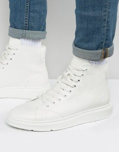 ASOS High Top Trainers In White With Chunky Sole - Белый