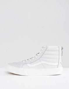 Серые кожаные кроссовки с молниями Vans Sk8 Hi - Мульти