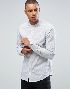 Узкая рубашка с воротом на пуговице Only & Sons - Темно-синий