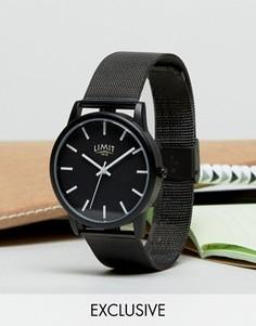 Часы с сетчатым ремешком Limit эксклюзивно для ASOS - Черный