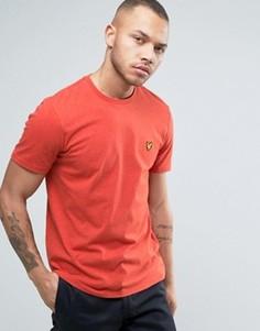 Красная меланжевая футболка классического кроя с логотипом-орлом Lyle & Scott - Красный