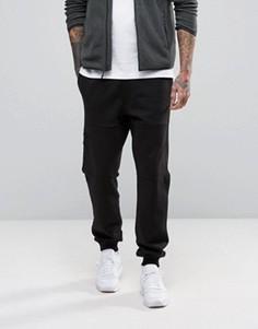 Черные трикотажные штаны с карманами The North Face - Черный