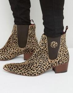 Леопардовые ботинки челси с ворсом Jeffery West Sylvian - Рыжий