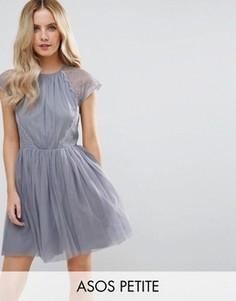 Платье мини для выпускного ASOS PETITE PREMIUM - Серый