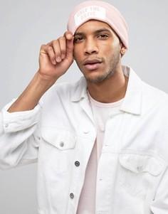 Розовая шапка-бини Diesel K-Stan - Розовый