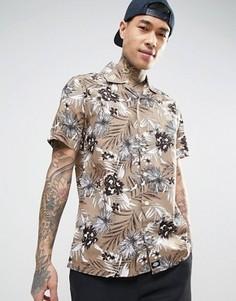 Рубашка классического кроя со сплошным цветочным принтом Dickies - Stone