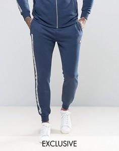 Спортивные штаны с принтом Ellesse - Темно-синий