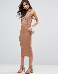 Длинная юбка-карандаш ASOS - Stone
