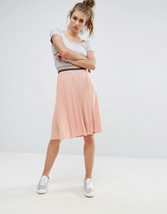 Плиссированная юбка миди Noisy May - Розовый