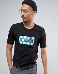 Футболка с принтом и логотипом Love Moschino - Черный
