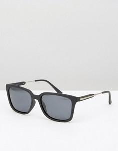 Квадратные солнцезащитные очки в черной матовой оправе Esprit - Черный