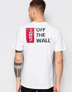 Белая футболка с принтом на спине Vans V5Y0WHT - Белый