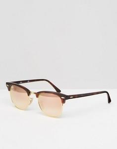 Солнцезащитные очки Клабмастер с эффектом омбре на стеклах Ray-Ban - Коричневый