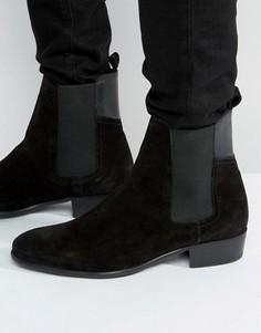 Замшевые ботинки челси Hudson London Watts - Черный