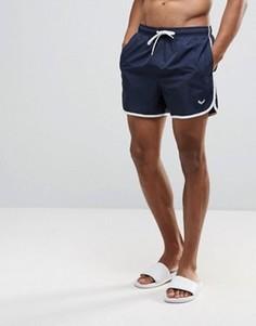 Короткие шорты для плавания в стиле ретро Bravesoul - Темно-синий