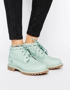 Зеленые ботинки чукка на шнуровке и плоской подошве Timberland Nellie - Зеленый