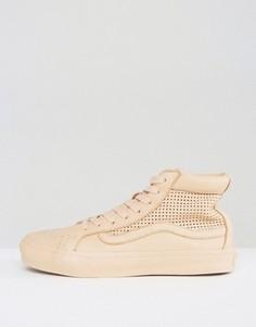 Светло-коричневые кроссовки с вырезами Vans Sk8 Hi - Мульти