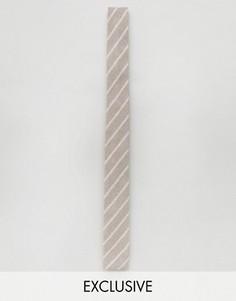 Льняной галстук в полоску Noak - Stone