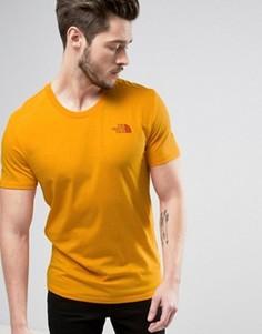 Оранжевая футболка The North Face - Оранжевый