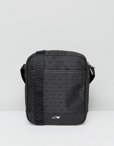 Черная сумка для авиапутешествий с логотипом Armani Jeans - Черный