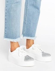 Кроссовки на шнуровке ASOS DAZZLE - Белый