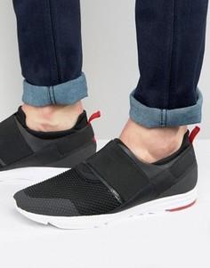Кроссовки для бега с эластичными вставками HUGO by Hugo Boss - Черный