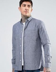 Рубашка на пуговицах YMC Harajuku - Синий
