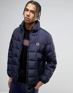 Дутая куртка на молнии Love Moschino - Темно-синий