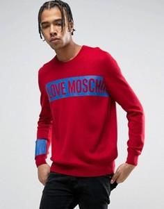 Джемпер с логотипом Love Moschino - Красный