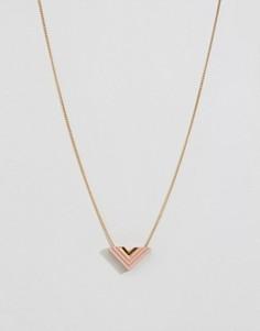 Ожерелье с подвеской в виде стрелы Wolf & Moon - Золотой