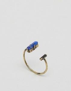 Кольцо с полудрагоценным камнем ASOS - Золотой