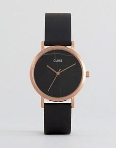 Часы с черным кожаным ремешком Cluse La Roche - Черный