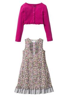 Комплект, 2 части: платье + болеро