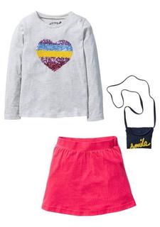 Комплект, 3 части: кофточка + юбка + сумочка