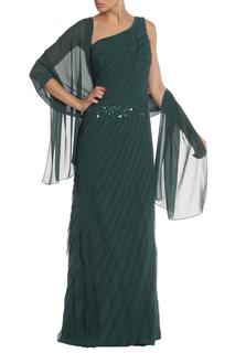 Платье с палантином Clips
