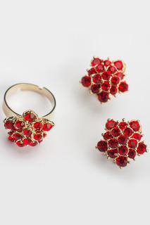 Комплект: серьги, кольцо ZAXA HADID