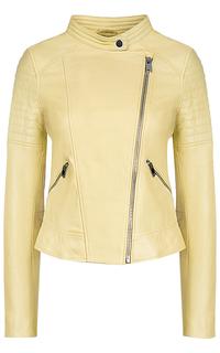 Желтая кожаная куртка La Reine Blanche