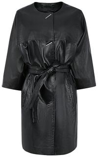 Пальто из натуральной кожи LE Monique