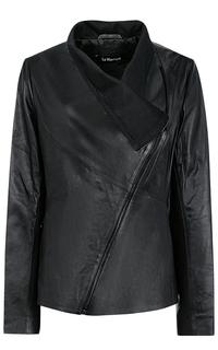 Кожаная куртка с запахом LE Monique