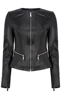 Кожаная куртка-жакет La Reine Blanche