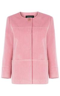 Короткое пальто с поясом из экокожи La Reine Blanche