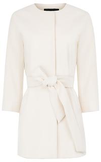 Белое пальто с поясом La Reine Blanche
