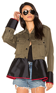 Drab field peplum jacket - Harvey Faircloth