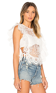 Eyelet apron top - Nightcap