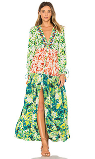 Romantic floral maxi dress - ROCOCO SAND